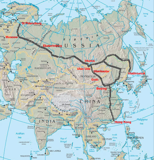transsibiriska järnvägen karta Transsibiriska järnvägen transsibiriska järnvägen karta